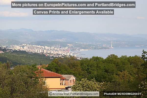 Kvarner Gulf, Rijeka, from the train