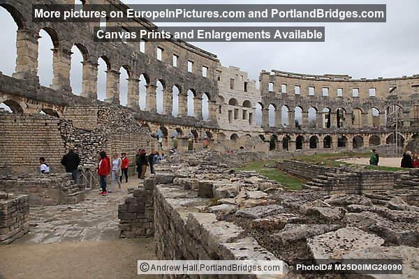 Inside Pula Amphitheater