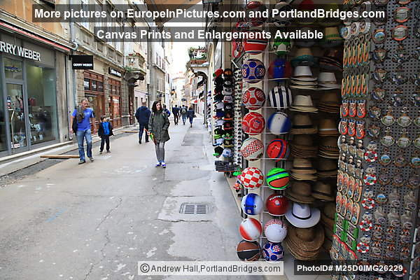 Croatia Souvenirs along Pula Street