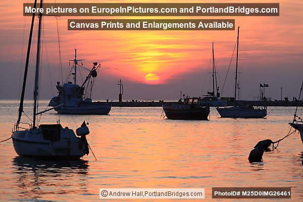 Rovinj, Boats, Sunset