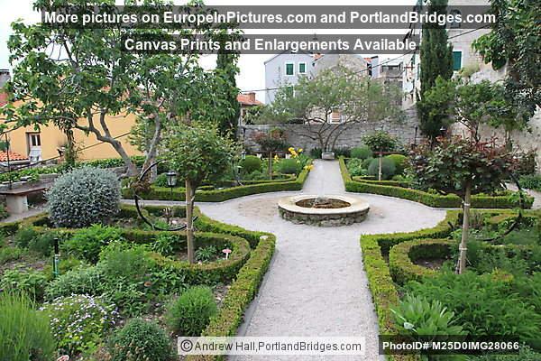 Medieval Mediterranean Garden of St Lawrence, Sibenik