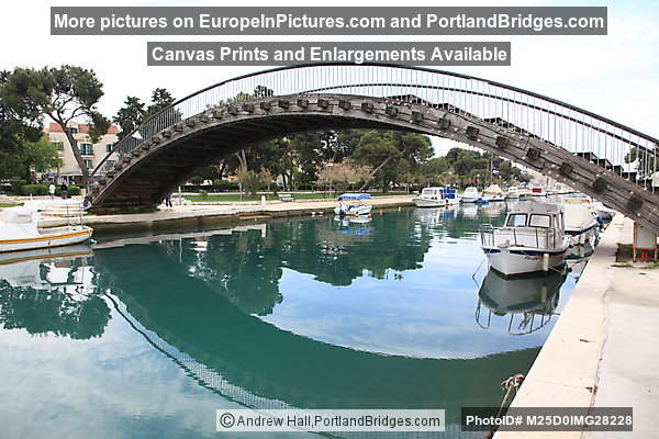 Trogir pedestrian bridge