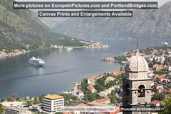 Bay of Kotor from Town Walls, Montenegro