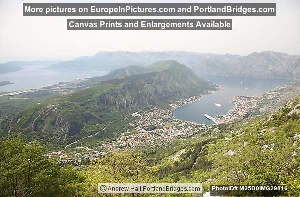 View of Bay of Kotor from Above