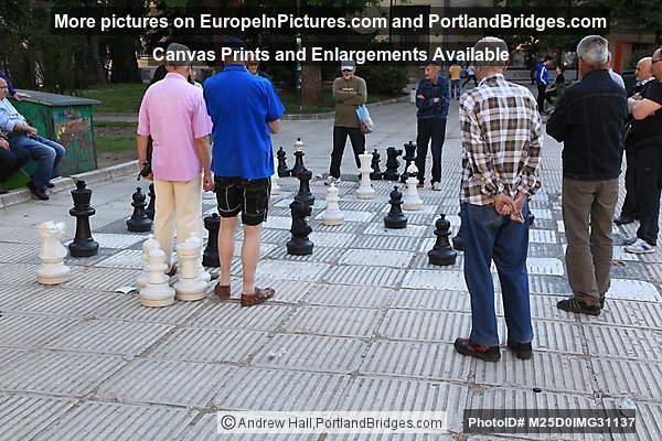 Chess Players in Liberation Square, Sarajevo