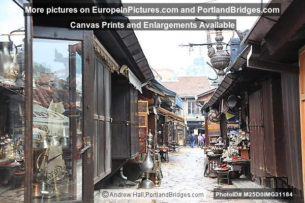 Baščaršija, Kazandžiluk Street (Coppersmiths' Street), Sarajevo
