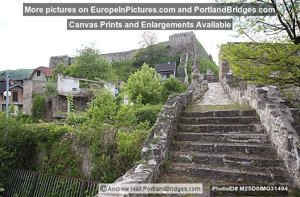 Steps leading up to Jajce Fortress