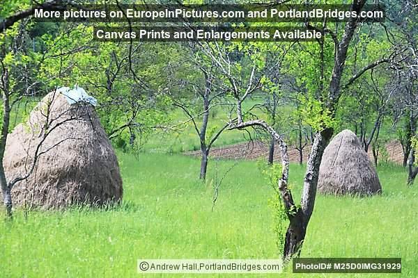 Haystacks in Una National Park, Bosnia