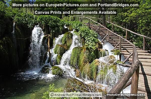 Waterfall, Boardwalk, Plitvice Lakes National Park