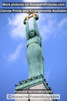 Statue Atop of Freedom Monument, Riga