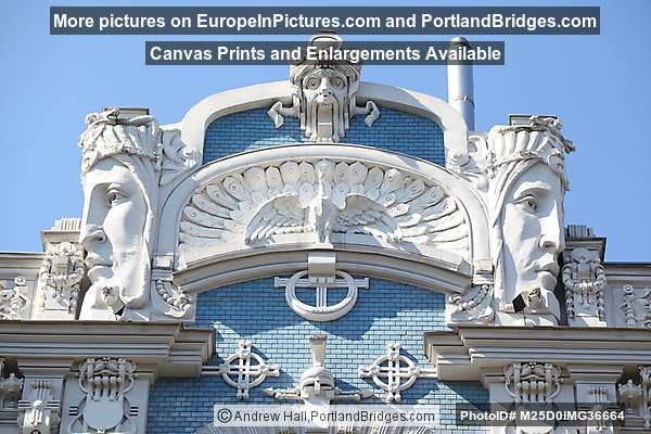 Art Nouveau Building, Mikhail Eisenstein, Elizabetes 10b, Riga, Latvia