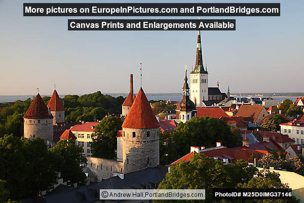 Patkuli Viewpoint, Toompea Hill, Tallinn, Estonia