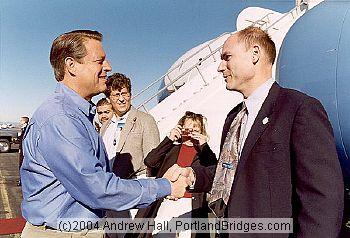 Al Gore Visit, October 2000 (Portland, Oregon)