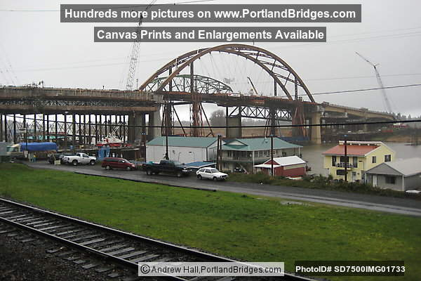 Sauvie Island Arch Span in place (Portland, Oregon)