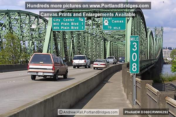 Interstate Bridge facing North (Portland, Oregon)