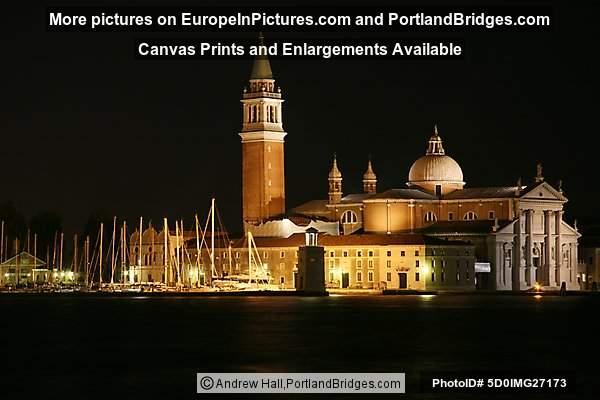 San Giorgio Maggiore at Night, Venice, Italy