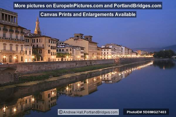 Arno river reflections, Florence, Italy