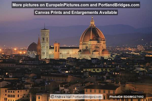 Duomo at dusk, Florence, Italy