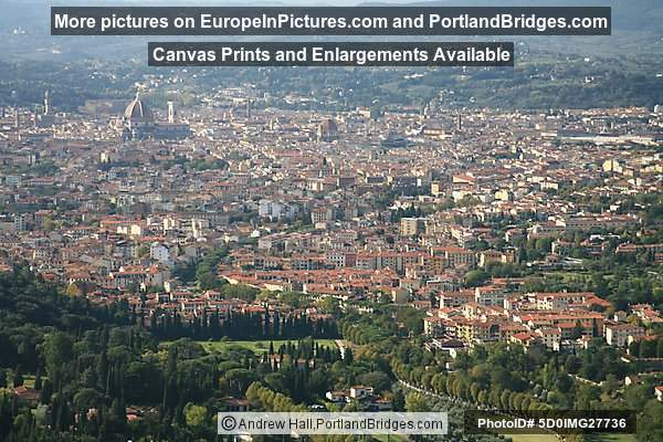 View of Florence from Fiesole, Tuscany