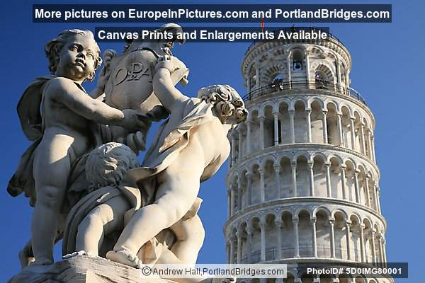 Cherub Statue, Tower of Pisa, Italy
