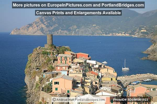 Vernazza, Cinque Terre, Italy, View of the Sea, Lighthouse