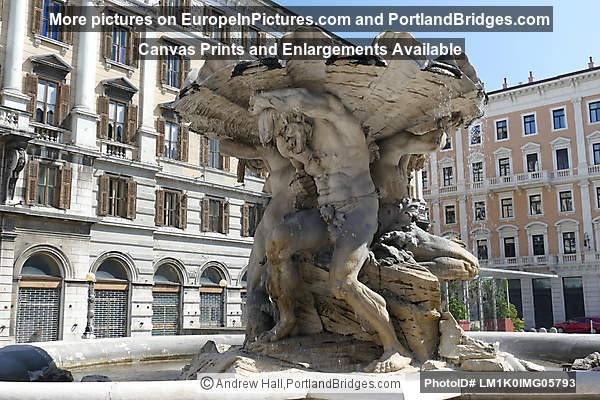 Fountain of the Tritons, Piazza Vittorio Veneto, Trieste