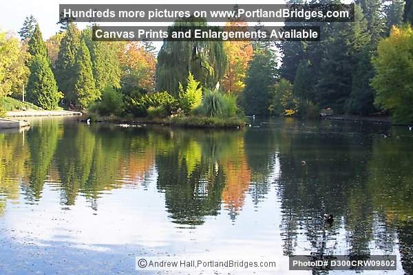 Laurelhurst Park, Fall Leaves, Lake Reflections (Portland, Oregon)