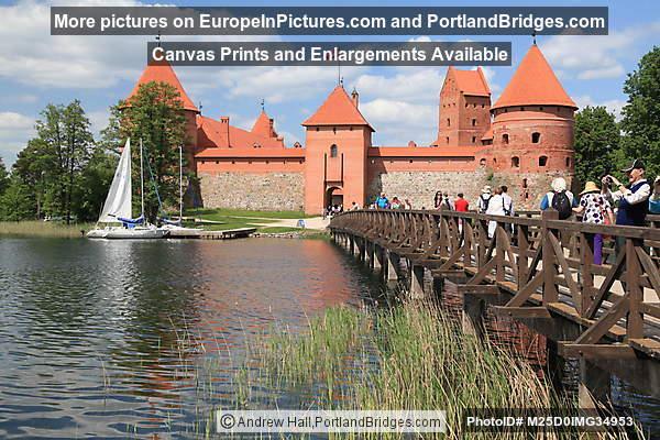 Footbridge, Trakai Castle
