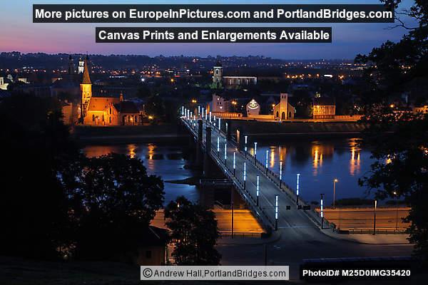 Vytautas the Great Bridge Viewed from Aleksotas Hill, Kaunas