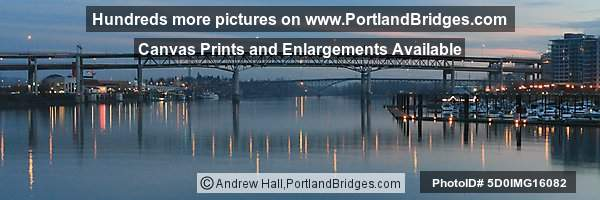 Marquam Bridge, Panoramic Pictures, Reflections