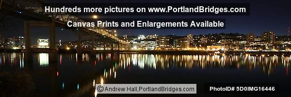 Marquam Bridge, Panoramic Pictures, Riverplace (Portland, Oregon)