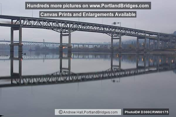 Marquam Bridge, Willamette River Reflection (Portland, Oregon)