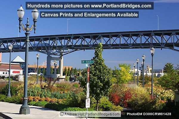 Marquam Bridge from Riverplace, 2003 (Portland, Oregon)