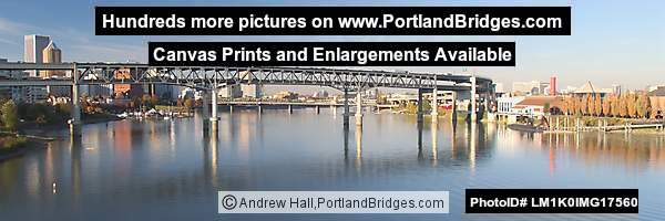 Marquam Bridge, OMSI, Panorama (Portland, Oregon)