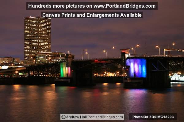 Morrison Bridge, Portland At Night