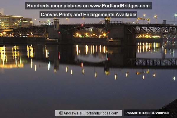 Morrison Bridge Reflections, Daybreak, Willamette River