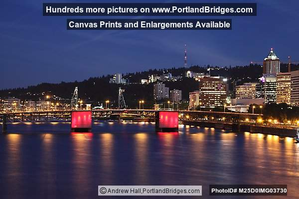 Morrison Bridge, Dusk (Portland, Oregon)