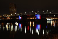 Portland Morrison Bridge Lit for Paris