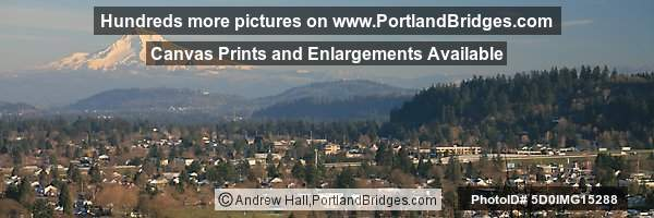 East Portland, Mt. Hood from Mt. Tabor, Panoramic
