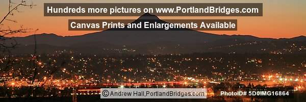 Mt. Hood, Sunrise/Daybreak Photos, Panoramic Pictures (Portland, Oregon)
