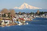 Mt. Hood, Hayden Island, North Portland Harbor