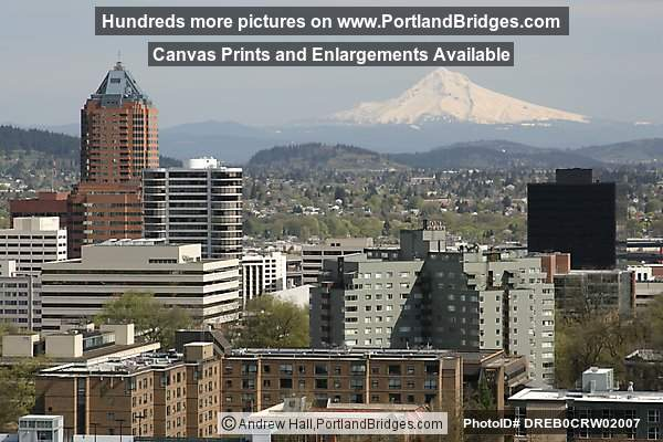 Mt. Hood, KOIN Tower, Daytime (Portland, Oregon)