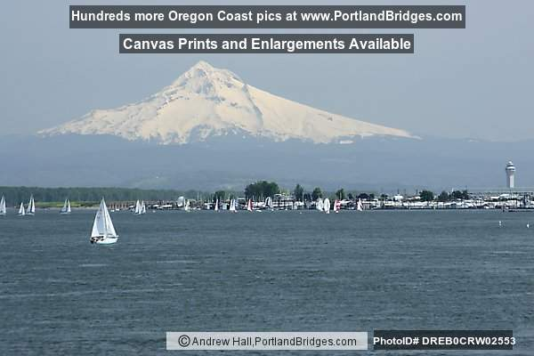 Mt. Hood, Sailboat, Columbia River (Portland, Oregon)