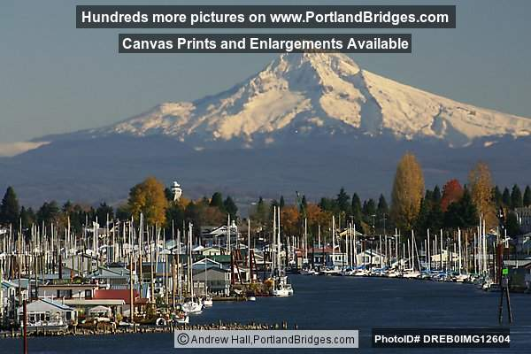 Hayden Island Yachts and Mt. Hood (Portland, Oregon)