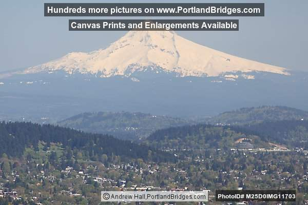 Mt. Hood from Pittock Mansion (Portland, Oregon)