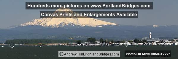 Mt. Hood, PDX Airport, Columbia River, Panoramic View (Portland, Oregon)
