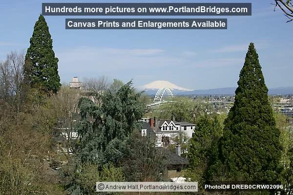 View of Mt. Saint Helens, Fremont Bridge, Trees (Portland, Oregon)