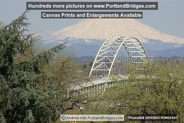 Fremont Bridge and Mt. Saint Helens, Daytime (Portland, Oregon)
