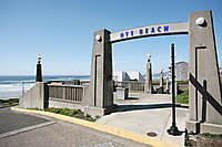 Newport Oregon Bayfront Town Beach