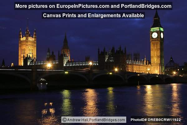 London - Big Ben and Parliament at Dusk
